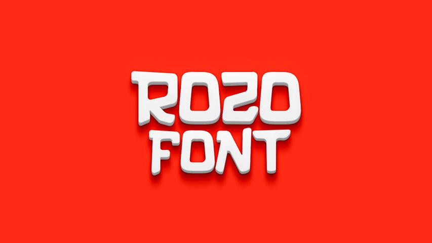 rozo free font