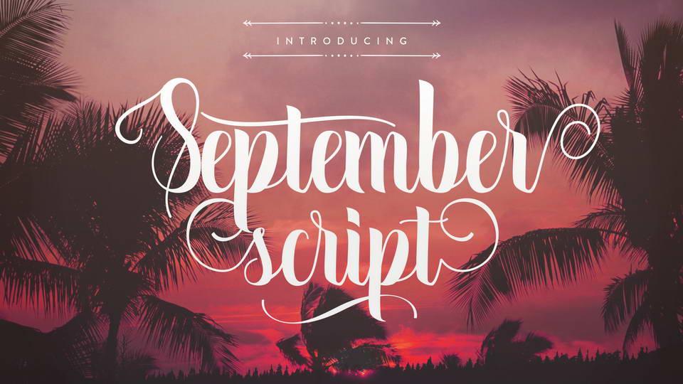 september script free font