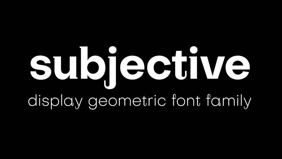 subjective free font family