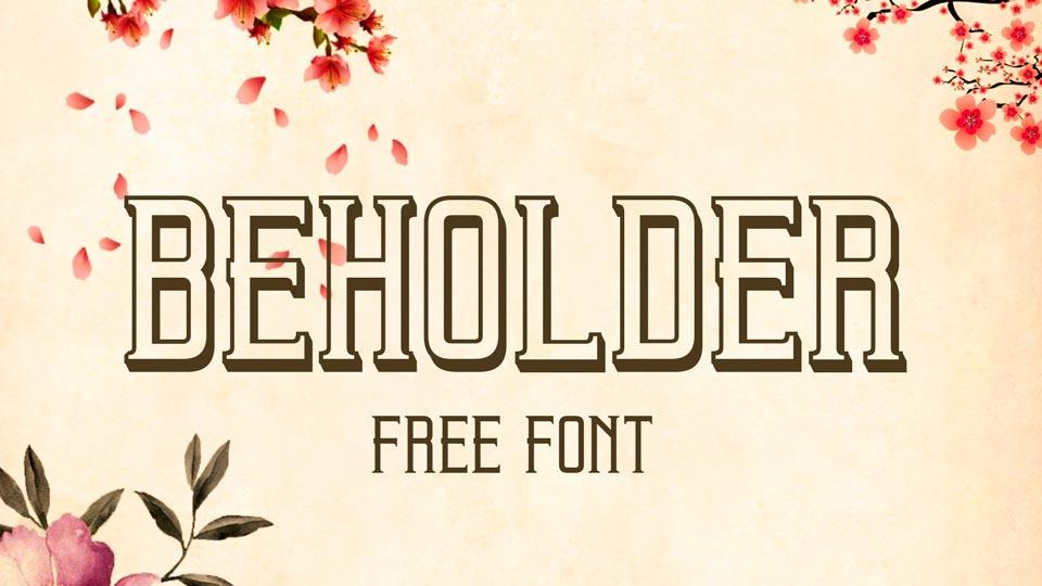 beholder free font