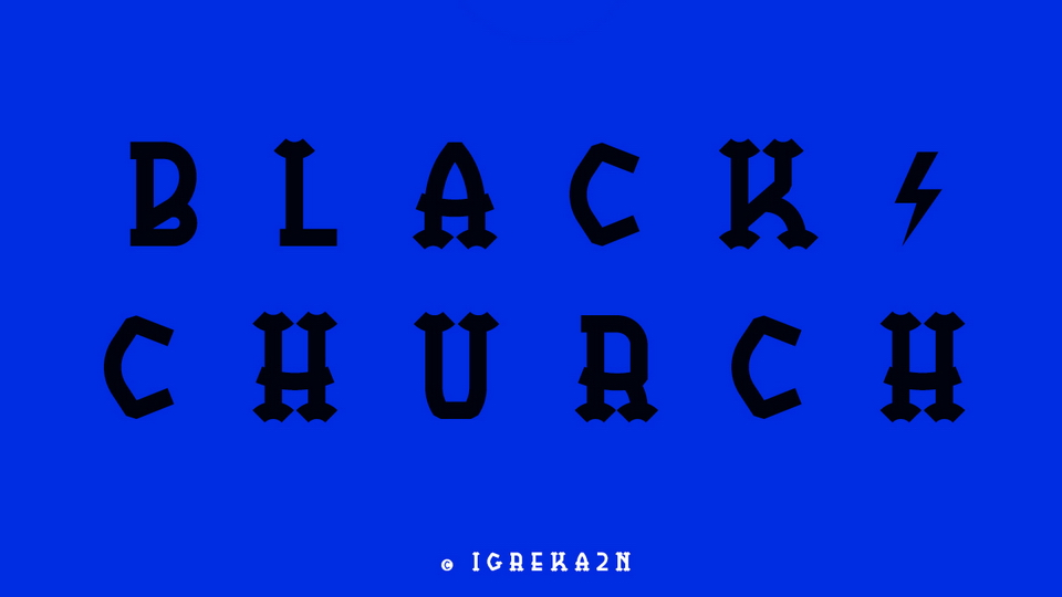 black church free font