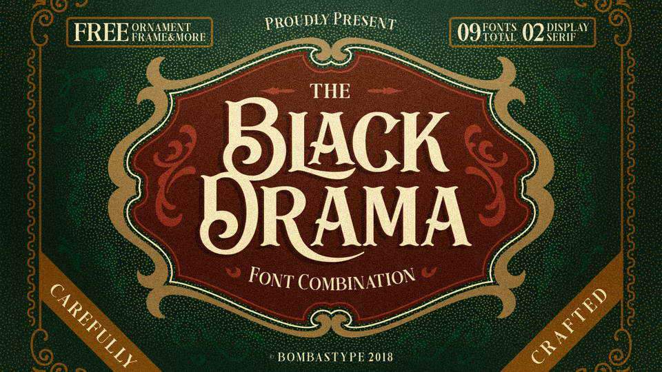 black drama font free