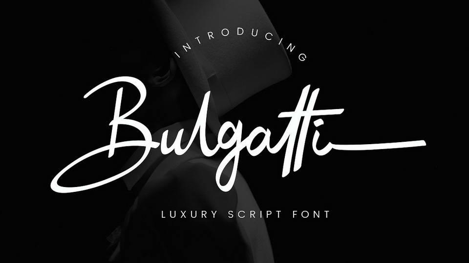 bulgatti free font