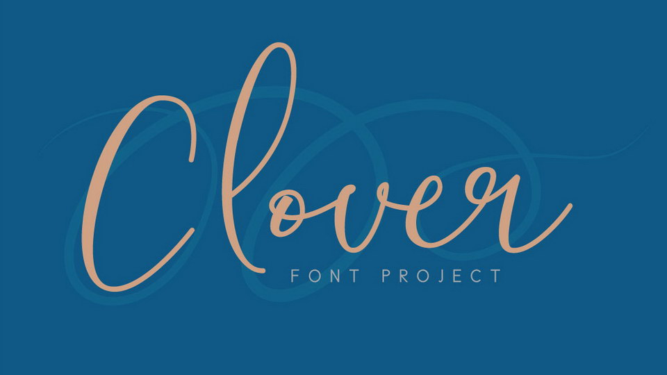 clover free font