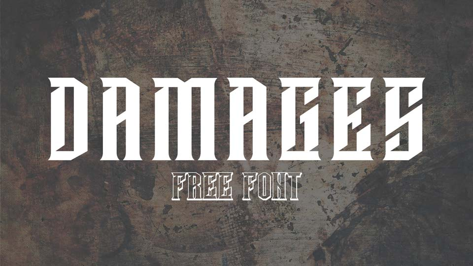 damages free font