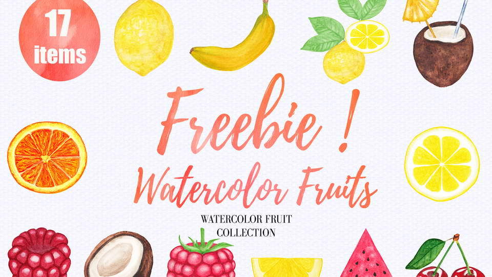 free watercolor fruits