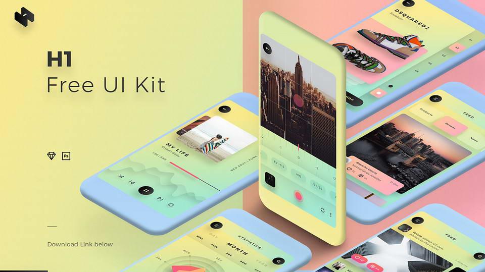 h1 free ui kit