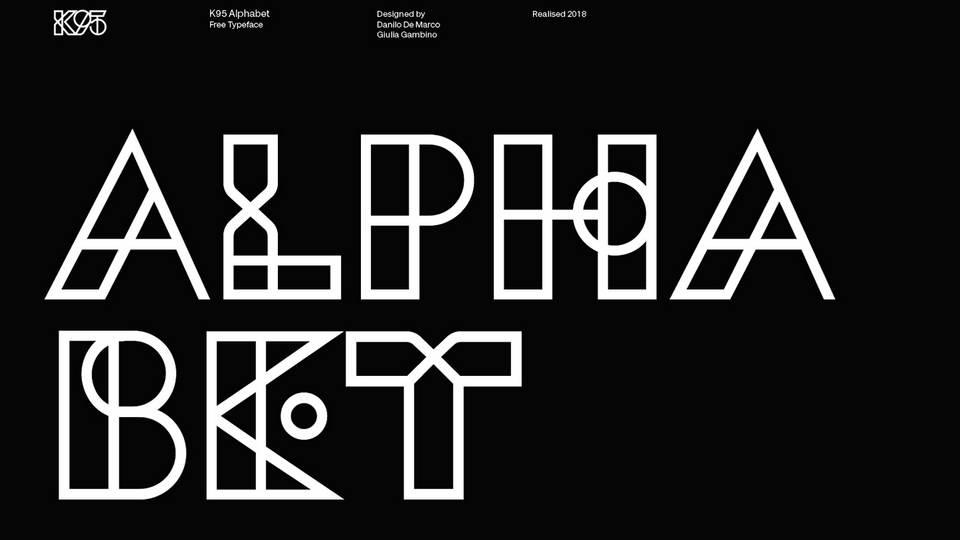 k95 free font