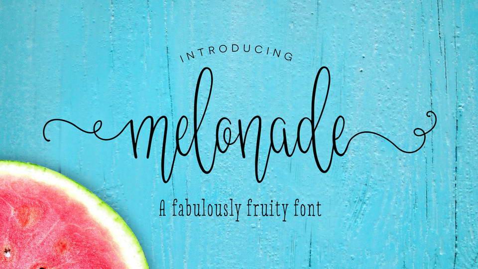 melonade free font