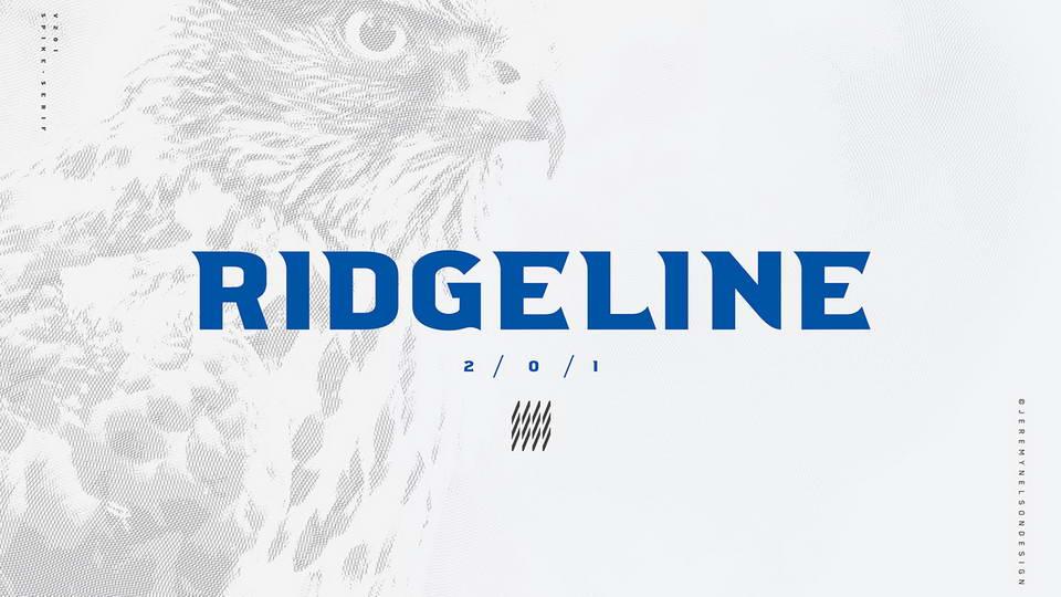 ridgeline free font
