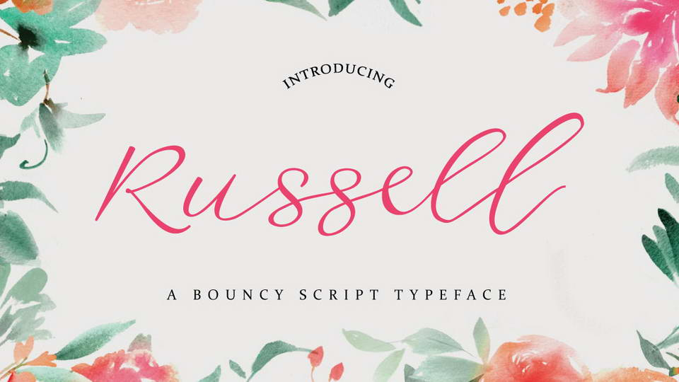 russell free font