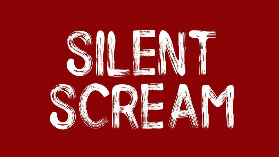 silent scream free font