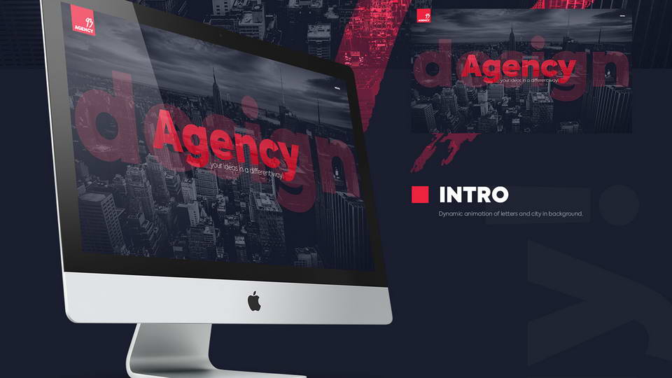 agency free psd web template