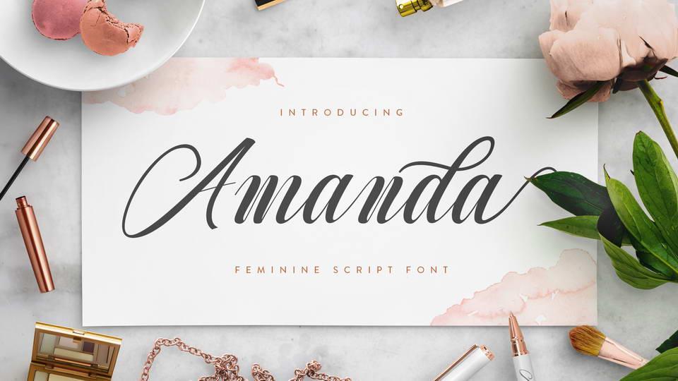 amanda free font