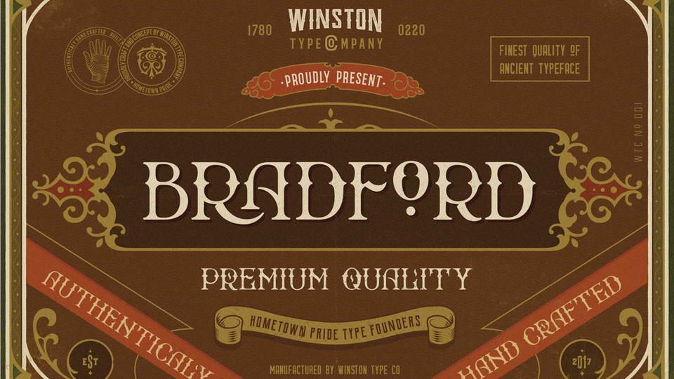 bradford free font