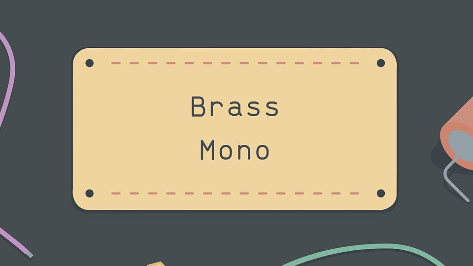 brass mono free font