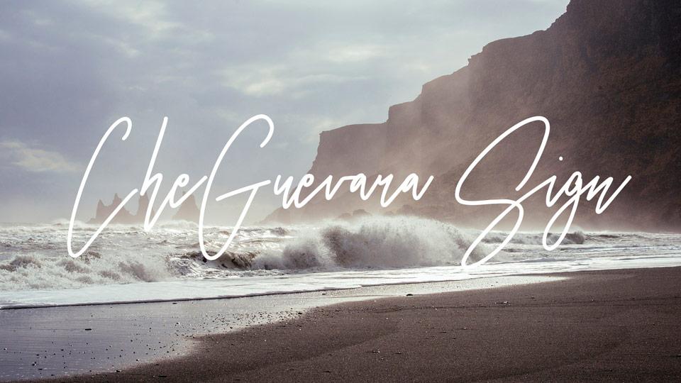 cheguevara sign free font