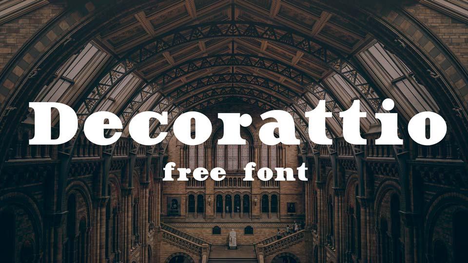 decorattio free font