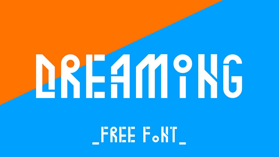 dreaming free font