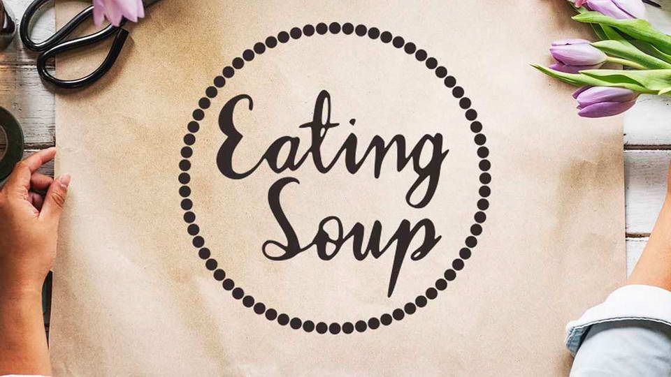eating soup free font