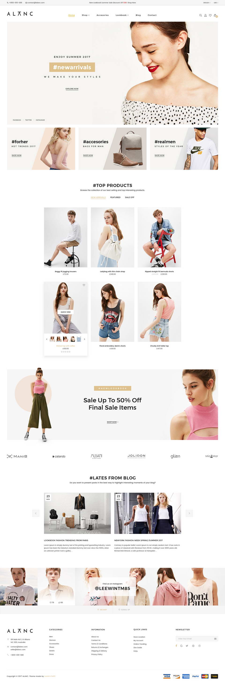 free ecommerce psd