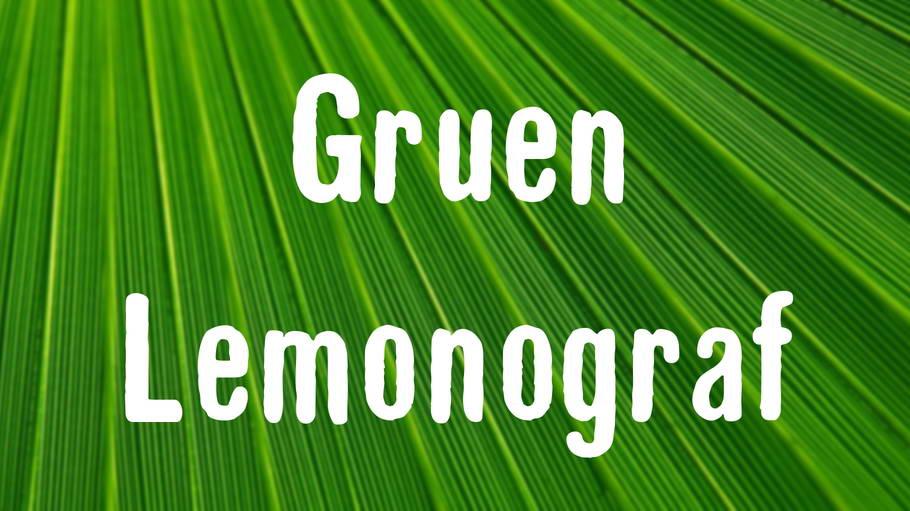 gruen lemongraf free font