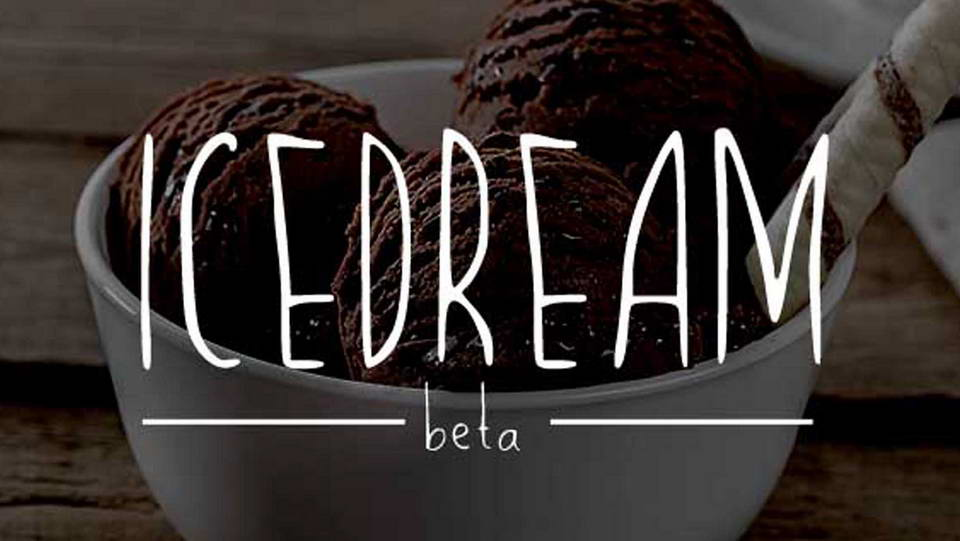 icedream free font