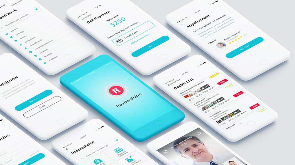 medicine app ui kit free
