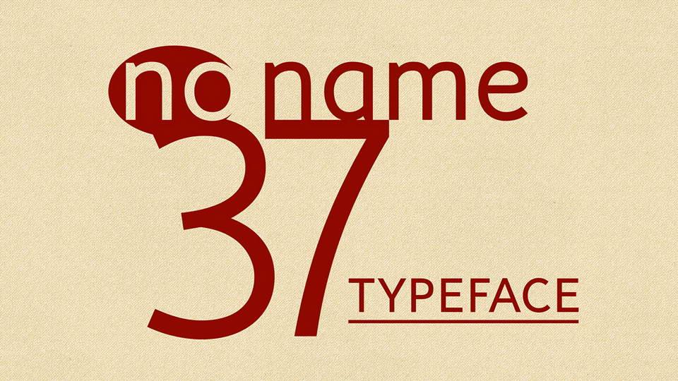 noname 37 free font