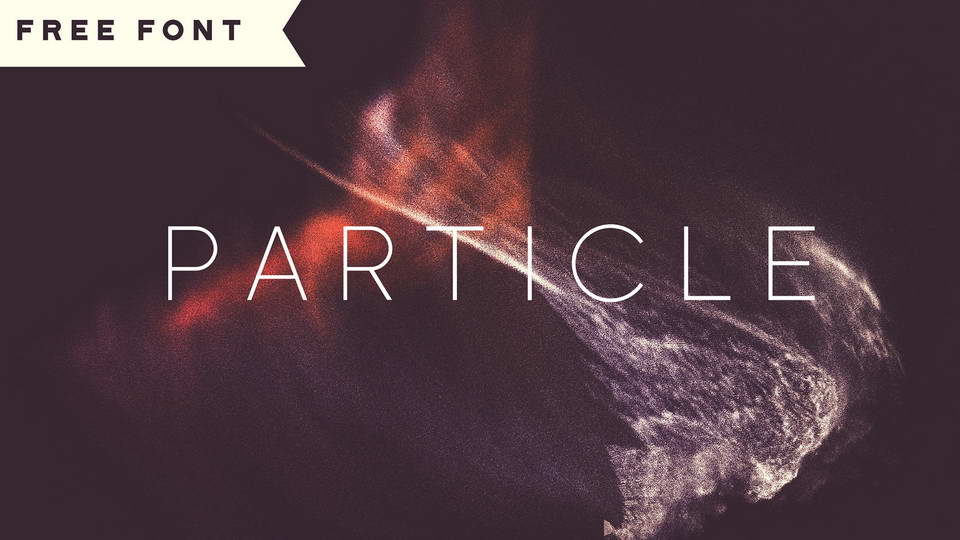particle free font