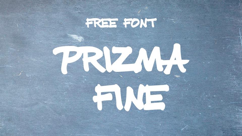 prizma fine free font