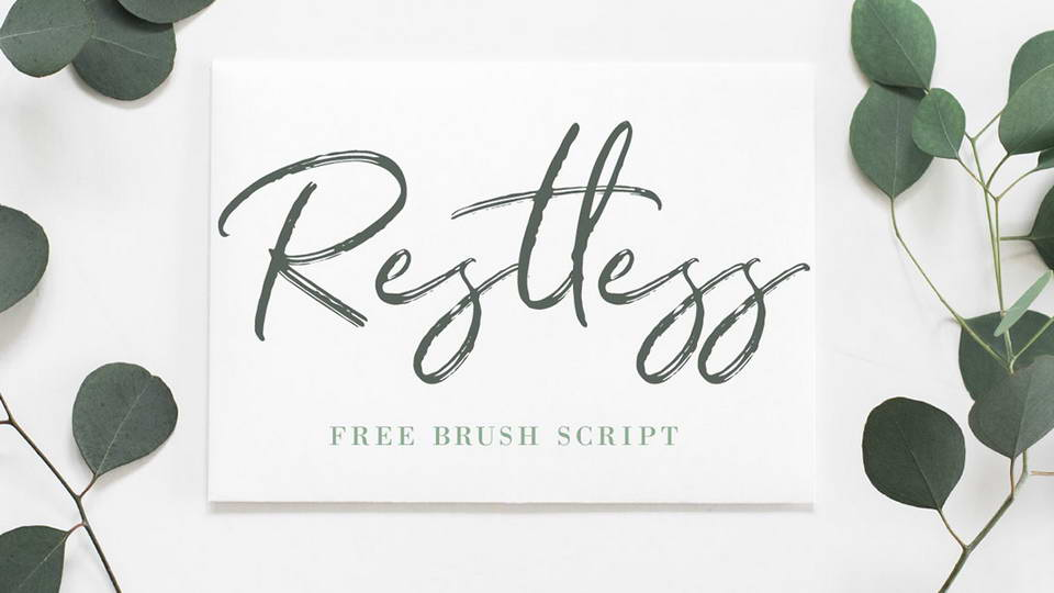 restless free font