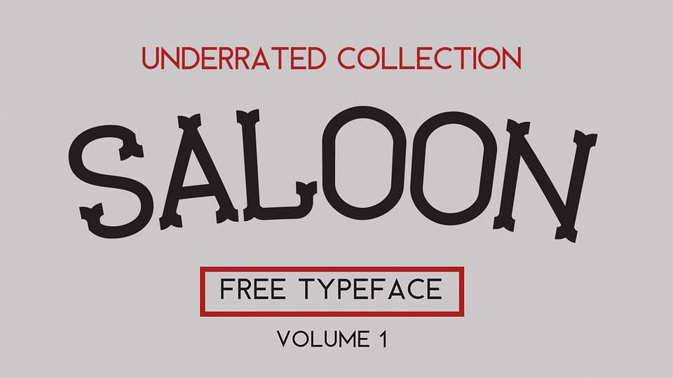 saloon free font