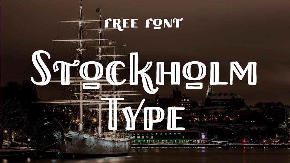 stockholm type free font