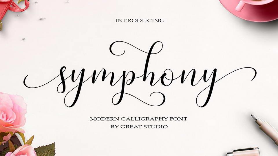 symphony script free font  u00b7 pinspiry