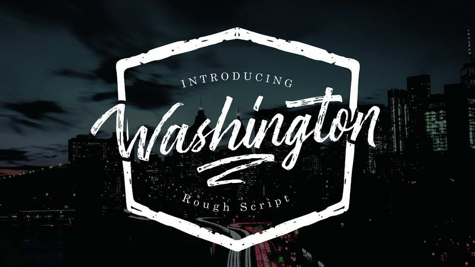 washington free font