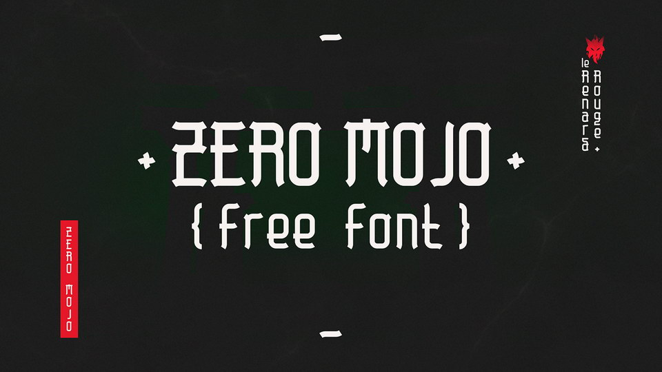 zero mojo free font