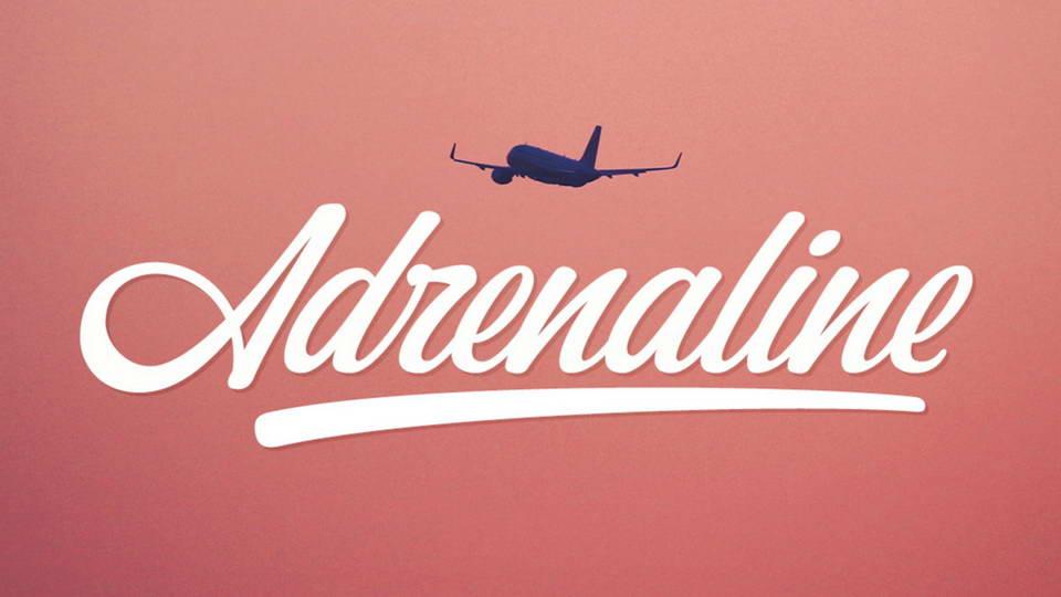 adrenaline free font