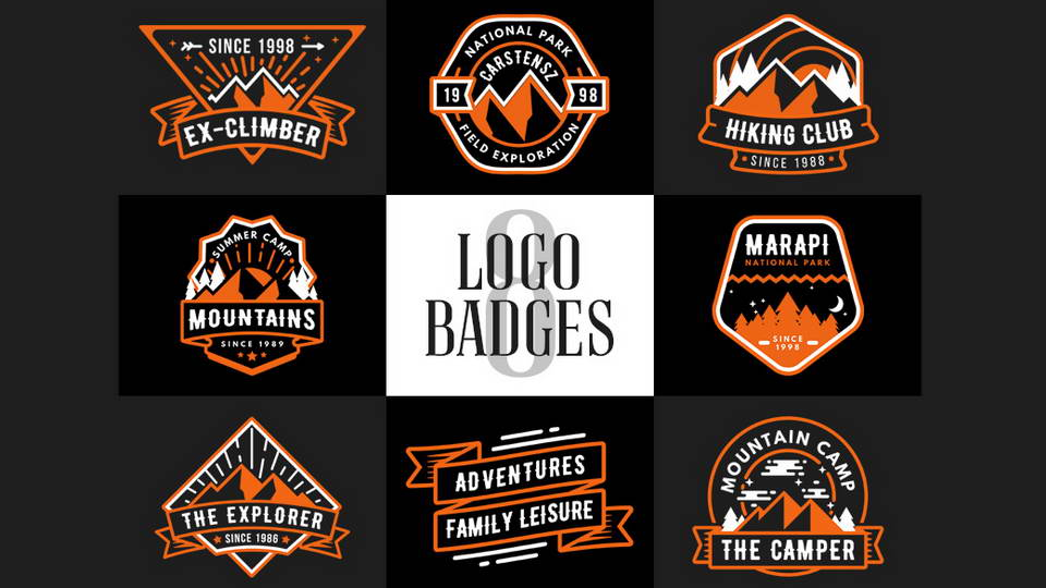 adventure logo badges