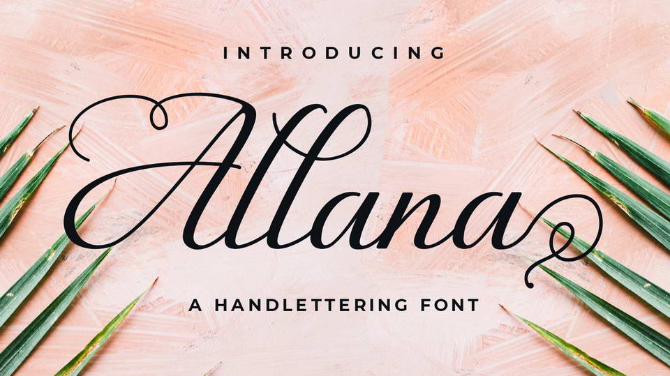 allana free font