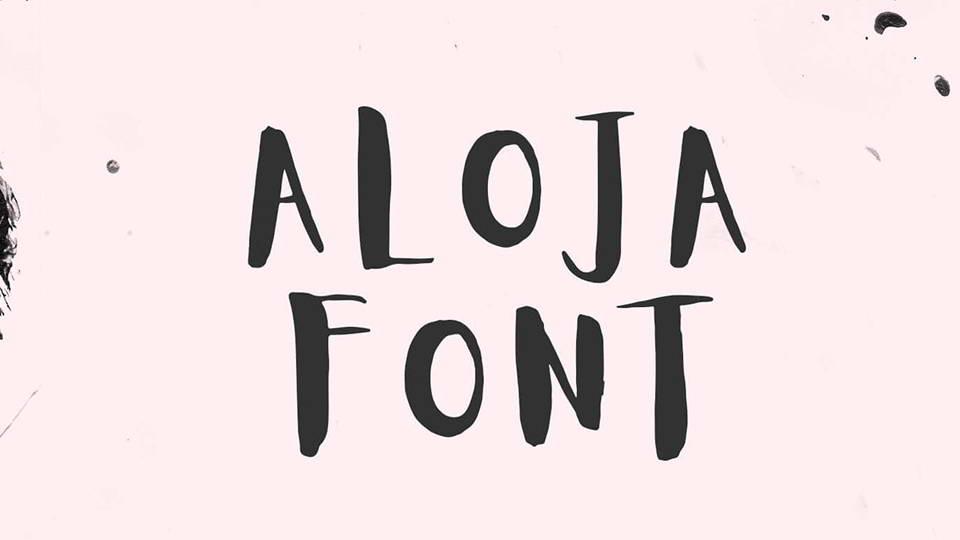 aloja free font