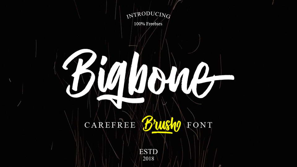 bigbone free font