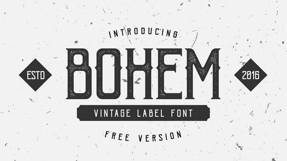 bohem free font