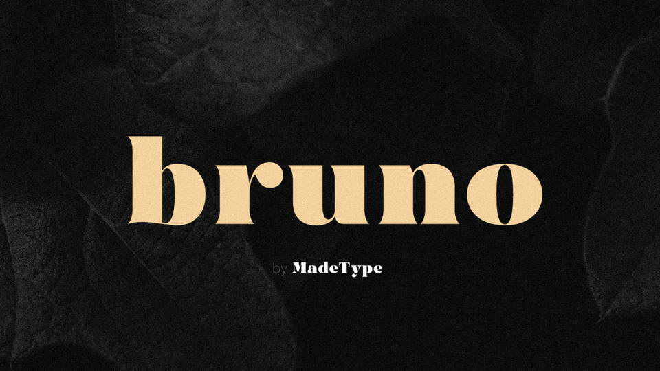 bruno free font
