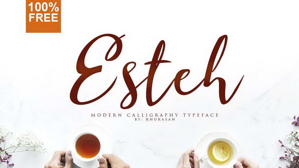 esteh free font
