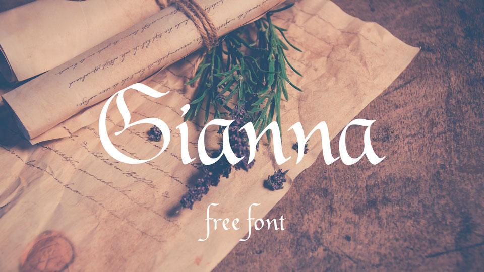 gianna free font