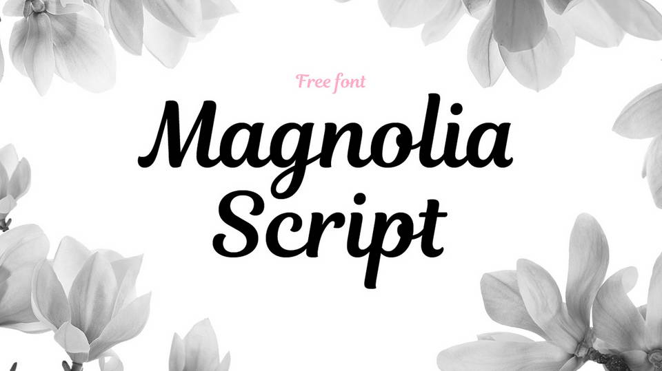 magnolia script free
