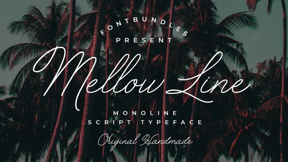 mellow line free font