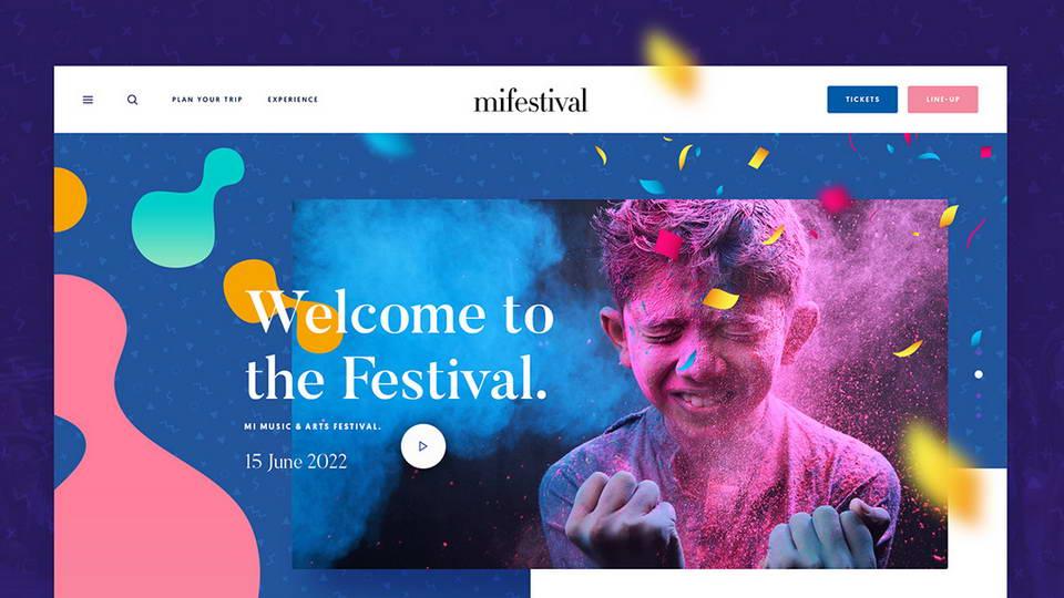 mifestival free web psd