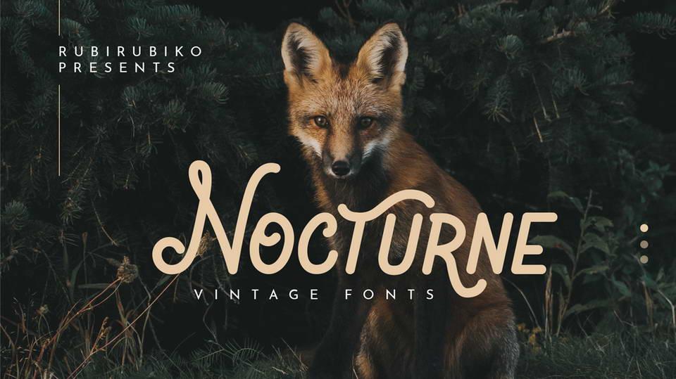 nocturne free font